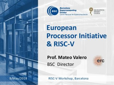 EPI presented at Barcelona RISC-V...